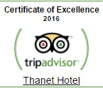 Thanet Hotel awards on Tripadvisor
